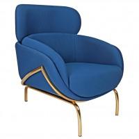 Nordal Lounge stol, ryal blue